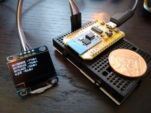"NodeMCU and 0.96"" 128X64 OLED Display"