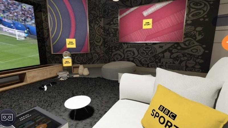 A view from the BBC virtual reality sofa